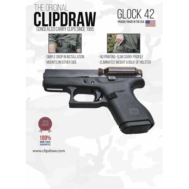 Clipdraw Glock 42 Black G42 B Walmart Com Walmart Com