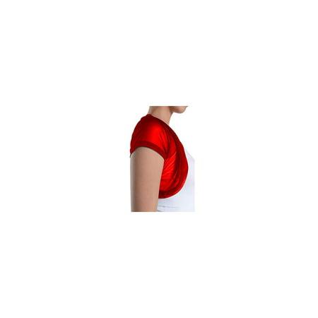 5602c71708479 Fashion Secrets - Fashion Secrets Women Short Sleeves Sheer Chiffon Bolero  Shrug Short Cardigan (Red, Small) - Walmart.com