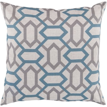 Art of Knot Carlisle Hand Crafted Gateway Pattern Decorative Pillow with Poly Filler, Teal](Pillow Crafts)