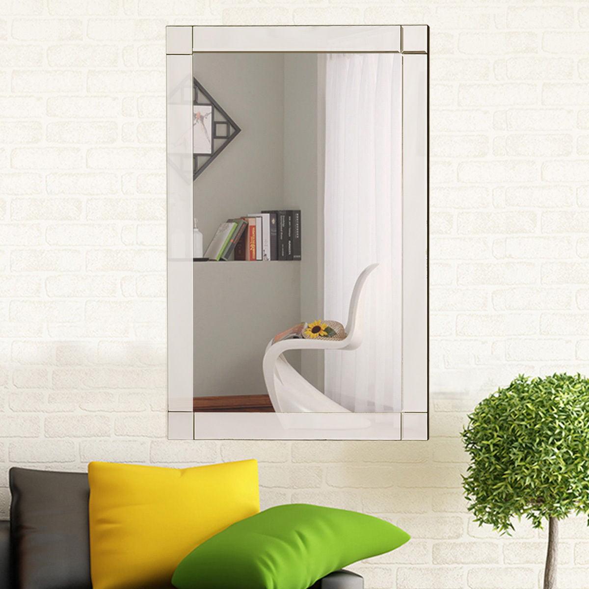 36'' Wall Mirror Rectangle Vanity Makeup Mirror Decor MDF Frame Bathroom Home - image 8 of 8