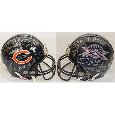 1985 Chicago Bears Team Signed Chicago Bears & Super Bowl XX Champs Logo Authentic Riddell Helmet by