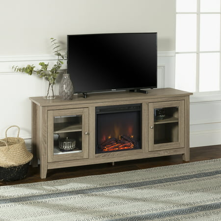 Walker Edison Driftwood Fireplace Tv Stand For Tvs Up To 64
