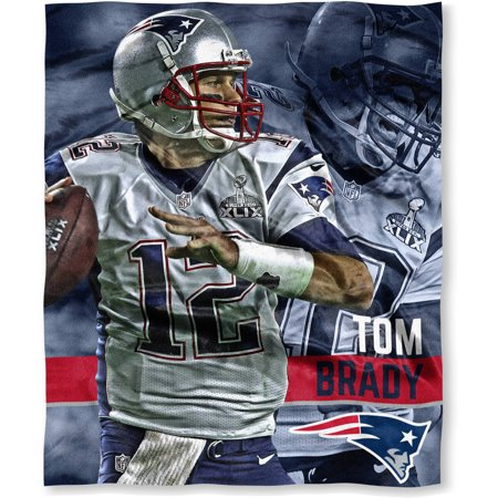 Nfl Players Association 50  X 60  New England Patriots Players High Definition Silk Touch Throw  Tom Brady