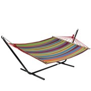 "76"" Colorful Striped Double Hammock"