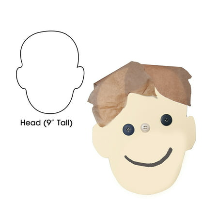 (4 Pk) Big Cut Outs 9In Head Shape - image 1 de 1