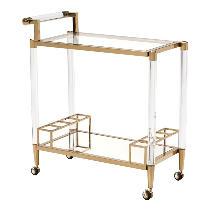 Zuo Existential Serving Cart in Gold