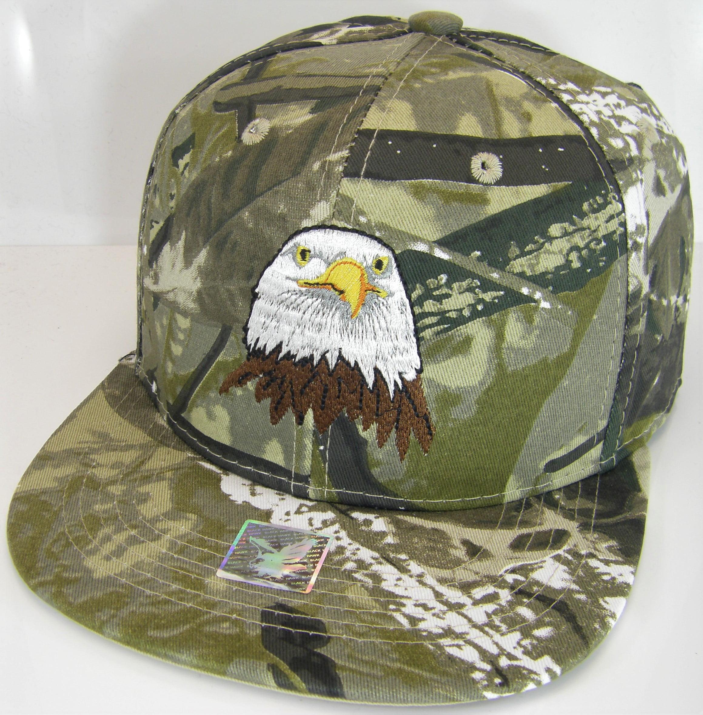 ee759e0af1c Joycap - USA Men s Patriotic Eagle Head   Side Flag Adjustable Snapback Baseball  Cap (Hunting Camo) - Walmart.com