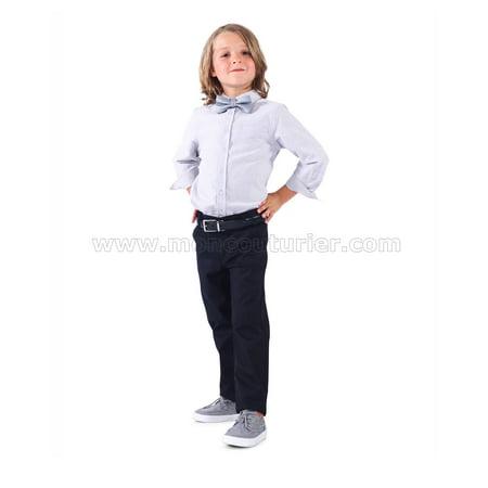 Deux par Deux Boys' Gray Shirt Cool Class, Sizes 2-10 - 4 - image 1 of 2