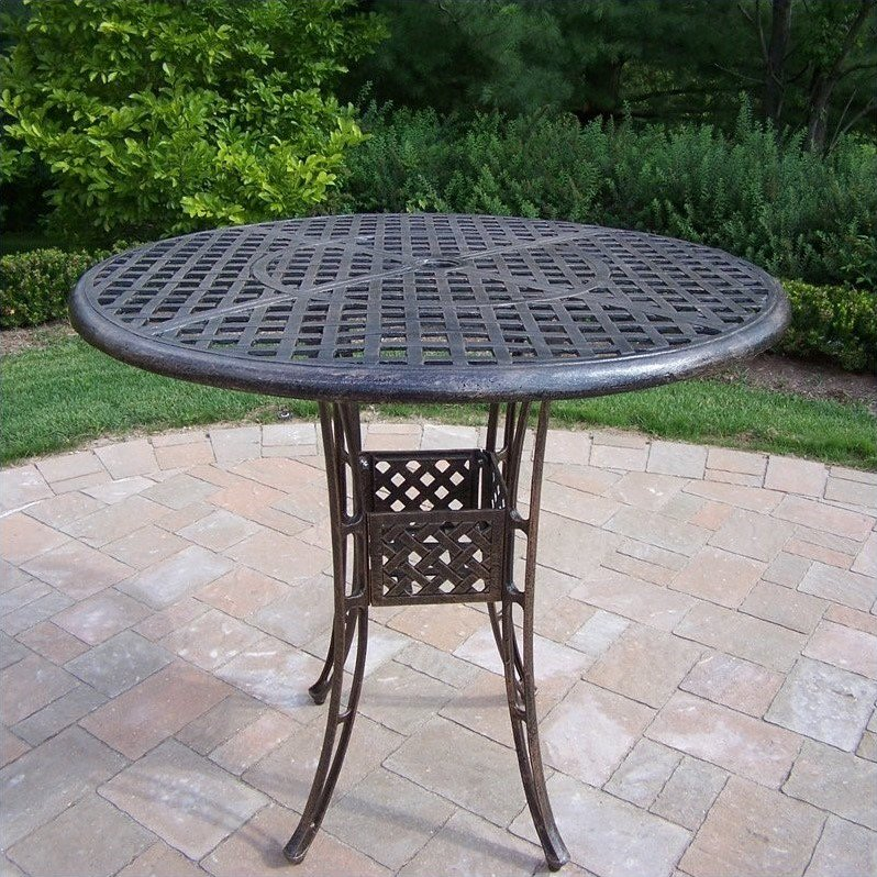"Oakland Living Elite Cast Aluminium 42"" Pub Table in Antique Bronze by Oakland Living"