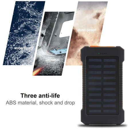 Portable Waterproof 300000mah Solar Bank Battery Charger Dual Usb External For