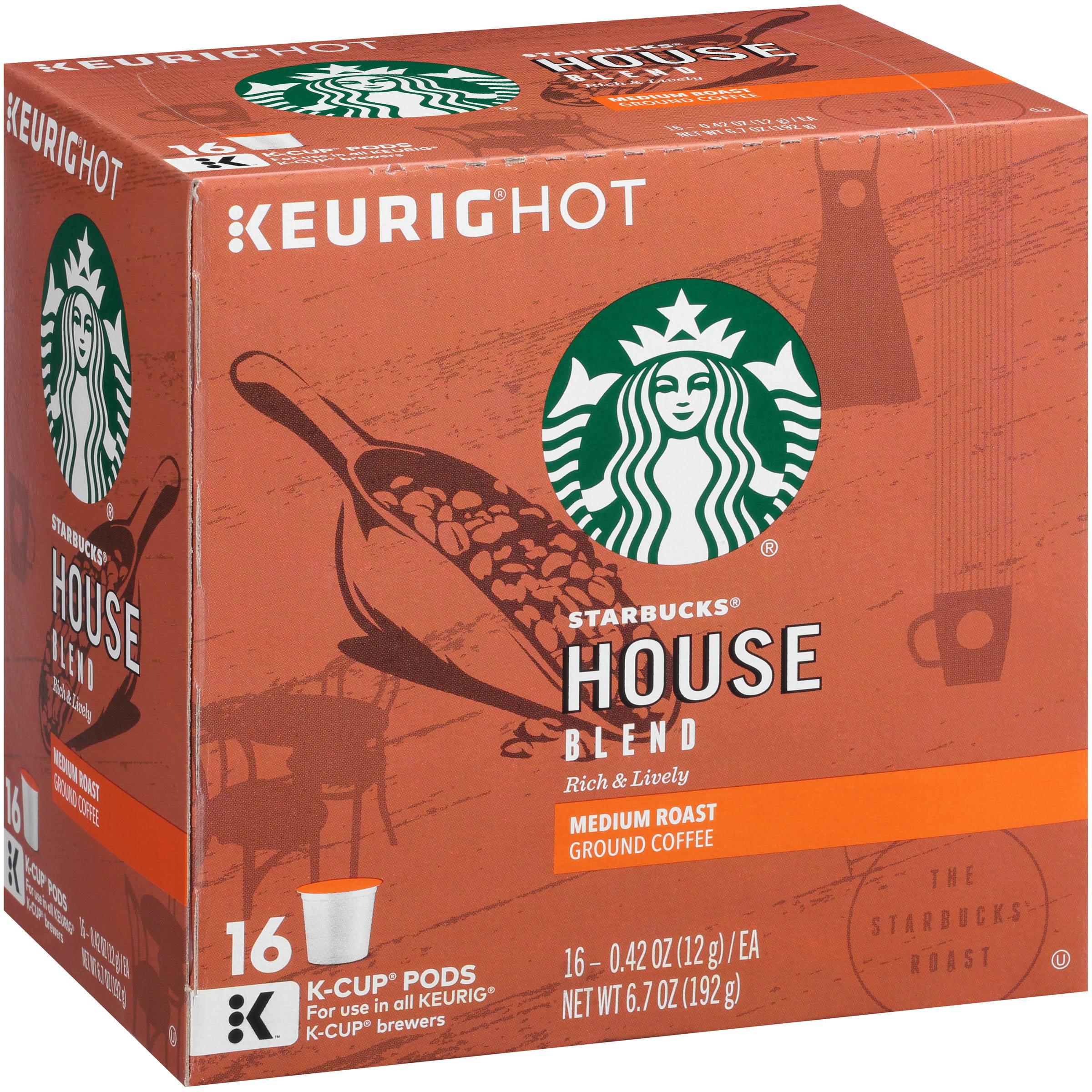 Starbucks® House Blend Medium Ground Coffee K-Cups 16 ct Box