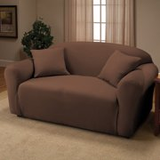 Jersey Stretch Love Seat Protector Slip Cover 70 x 120 Chocolate