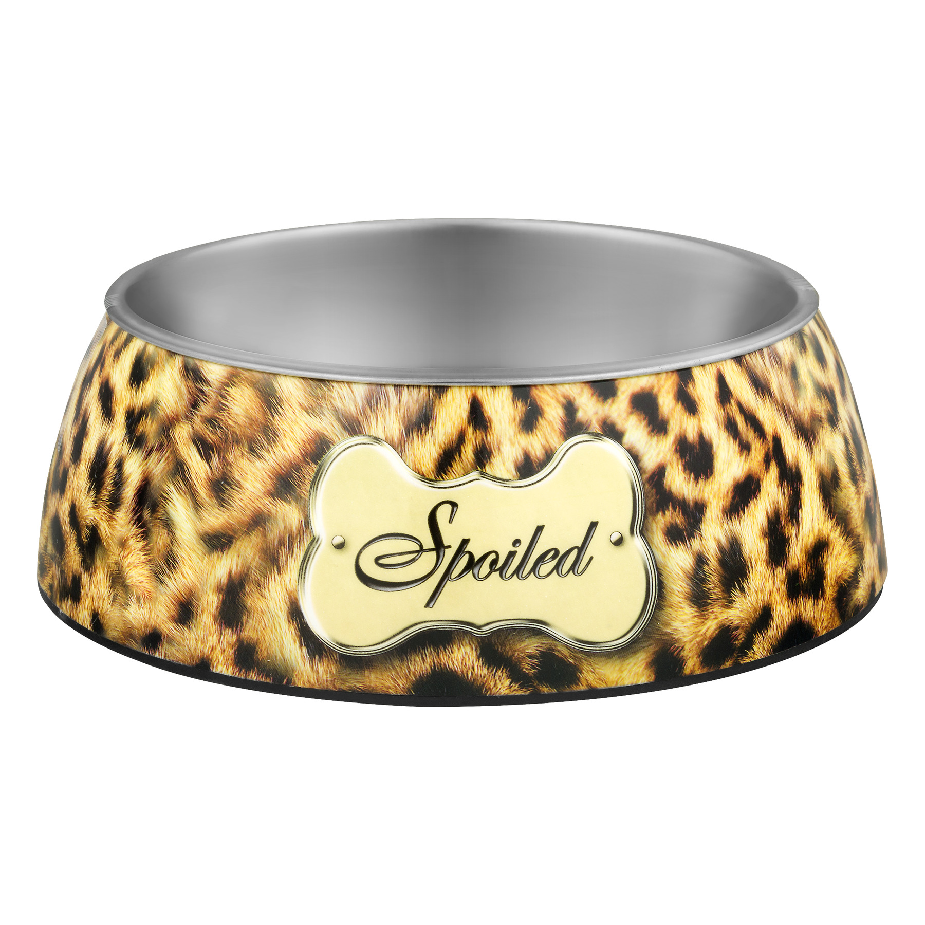 Loving Pets Milano Spoiled Leopard Bowl Large, 1.0 CT