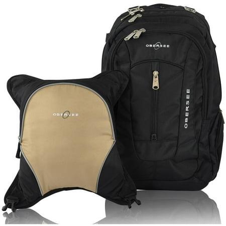 obersee bern diaper bag backpack and cooler black sand. Black Bedroom Furniture Sets. Home Design Ideas