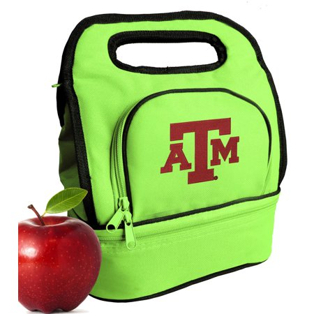 - TAMU Aggies Lunch Bags Green Texas A&M Lunch Tote Cooler w/ Two Sections!
