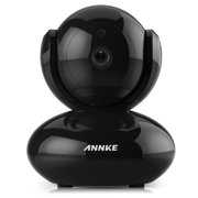 ANNKE HD 720P WiFi Video Monitoring Security Wireless IP Camera with Pan/Tilt, Two-Way Audio, Plug & Play Setup, Optional Cloud Recording, Full HD 720P - Black