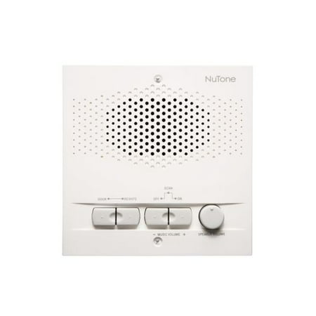 NuTone NPS103 3-Wire Outdoor Remote Intercom Station with AM/FM Radio Tuner and 16 Radio Settings