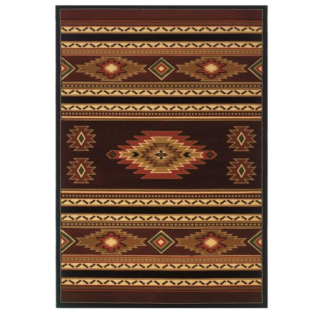 United Weavers 511 25929 28C 2 ft. 7 in. x 7 ft. 4 in. Designer Contours CEM Soaring Diamond Runner Rug, Terracotta - image 1 de 1