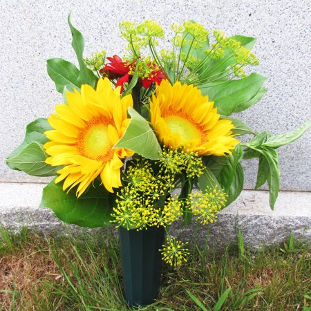 Evelots Set Of 2 Cemetery Grave Patriotic Memorial Veterans Flower Cone Vases Walmart Com