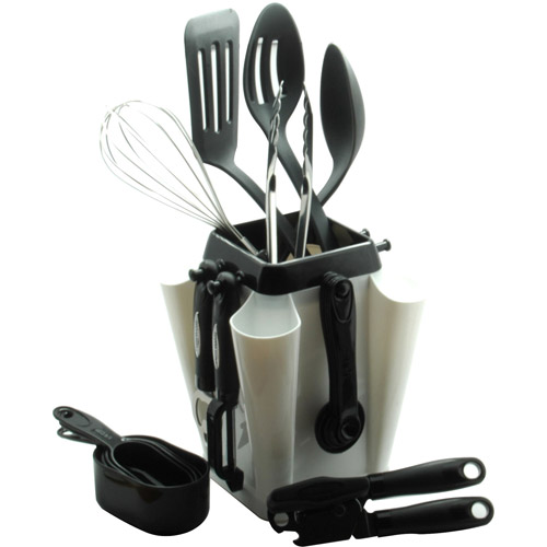 farberware 18-piece kitchen tool and gadget set with rotating