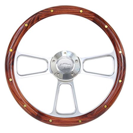 1964 Chevy - 1964 -1965 Chevy Chevelle, El Camino Real Wood Steering Wheel w/Full Billet Kit