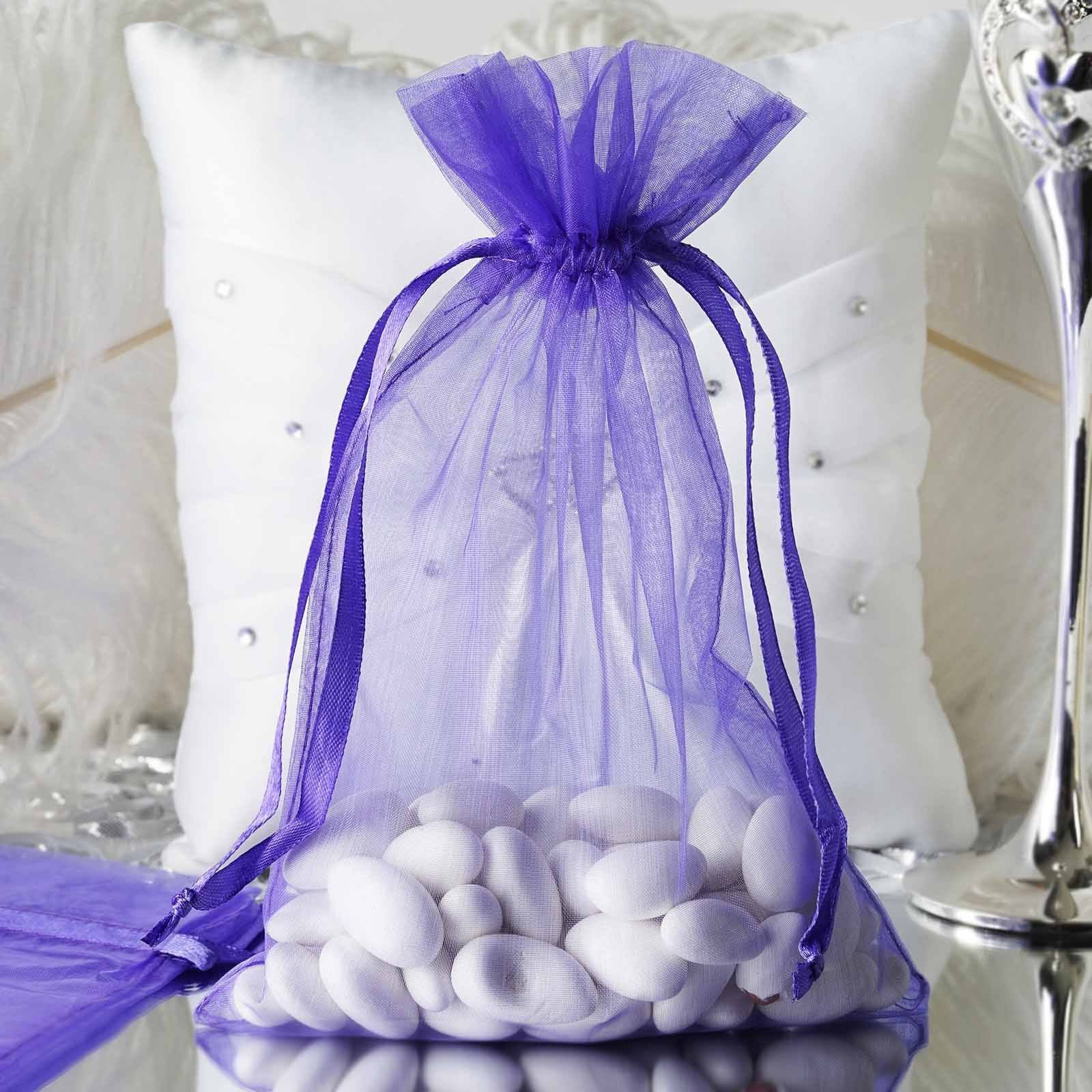 WEDDINGPARTYBRIDAL SHOWEREVENTFAVOURS ORGANZA SWEET BAGS PREFILLED