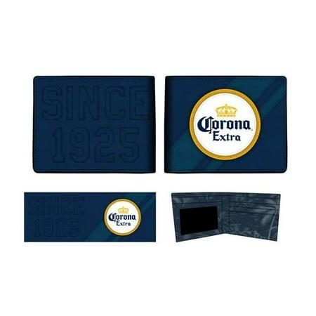 Corona Extra 48364 Corona Extra Logo Bi-Fold Navy Blue Wallet