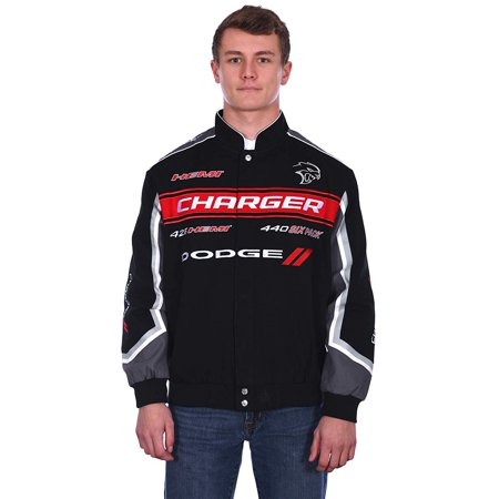 JH Design Group Mens Dodge Charger Embroidered Cotton Twill Jacket