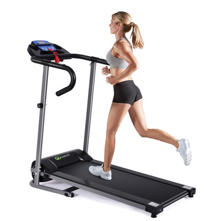 Goplus 1100W Folding Treadmill Electric Support Motorized Power Running Fitness Machine