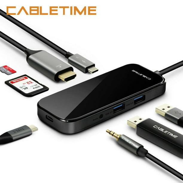 6 in 1/8 in 1 USB C HUB Docking Station Multi USB...