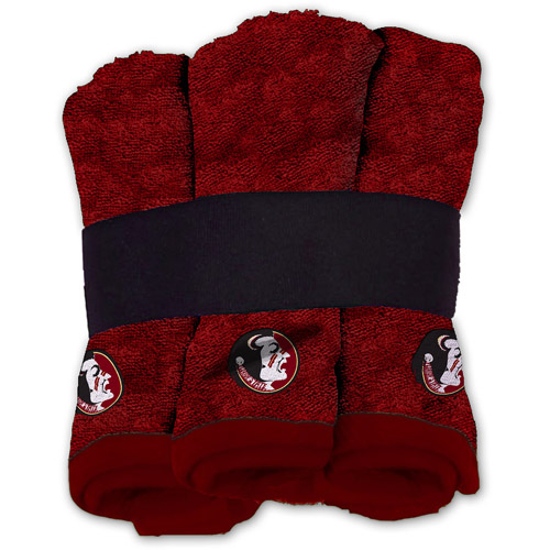NCAA Florida State Seminoles Wash Cloth Set, 6pk