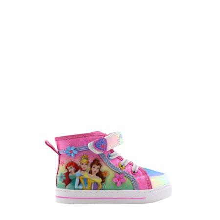 Disney Princesses High Top Sneaker (Toddler Girls)