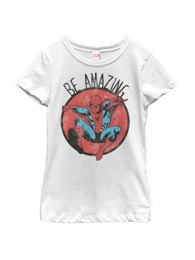 Marvel Girls' Spider-Man Be Amazing T-Shirt