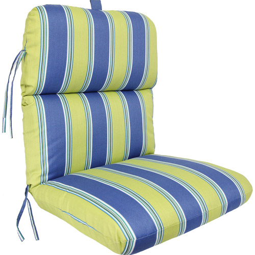 Jordan Manufacturing Deluxe Stripe Chair Cushion, Multiple Patterns