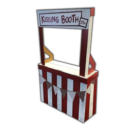 Kissing Booth Cardboard Stand-Up, 3ft