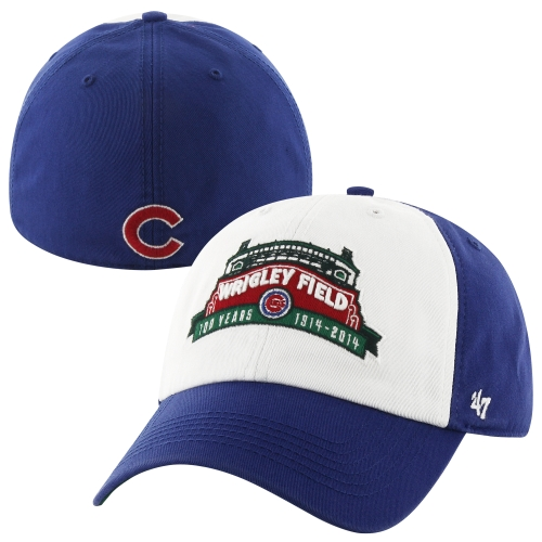 '47 Brand Chicago Cubs Wrigley Field 100 Years Franchise Freshman Marquee Fitted Hat - Royal Blue/White