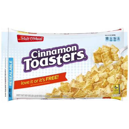 Cereal Dish - (2 Pack) Malt-O-Meal Breakfast Cereal, Cinnamon Toasters, 37 Oz, Bag