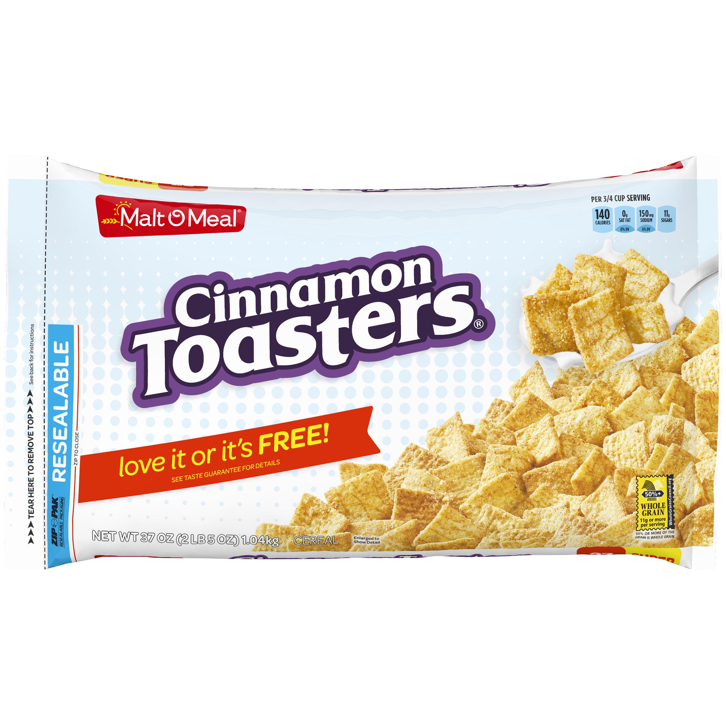 Malt-O-Meal Breakfast Cereal, Cinnamon Toasters, 37 Oz, Bag