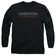 Constantine Hellblazer Logo Mens Long Sleeve Shirt