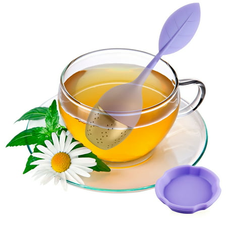 Loose Leaf Tea Infuser Tea Strainer for Teapot, Tea Cups, Mugs, Bottle, Fennel Tea, Roooibos Tea, Herbal Tea Steeping Loose Tea Steeper - Purple ()