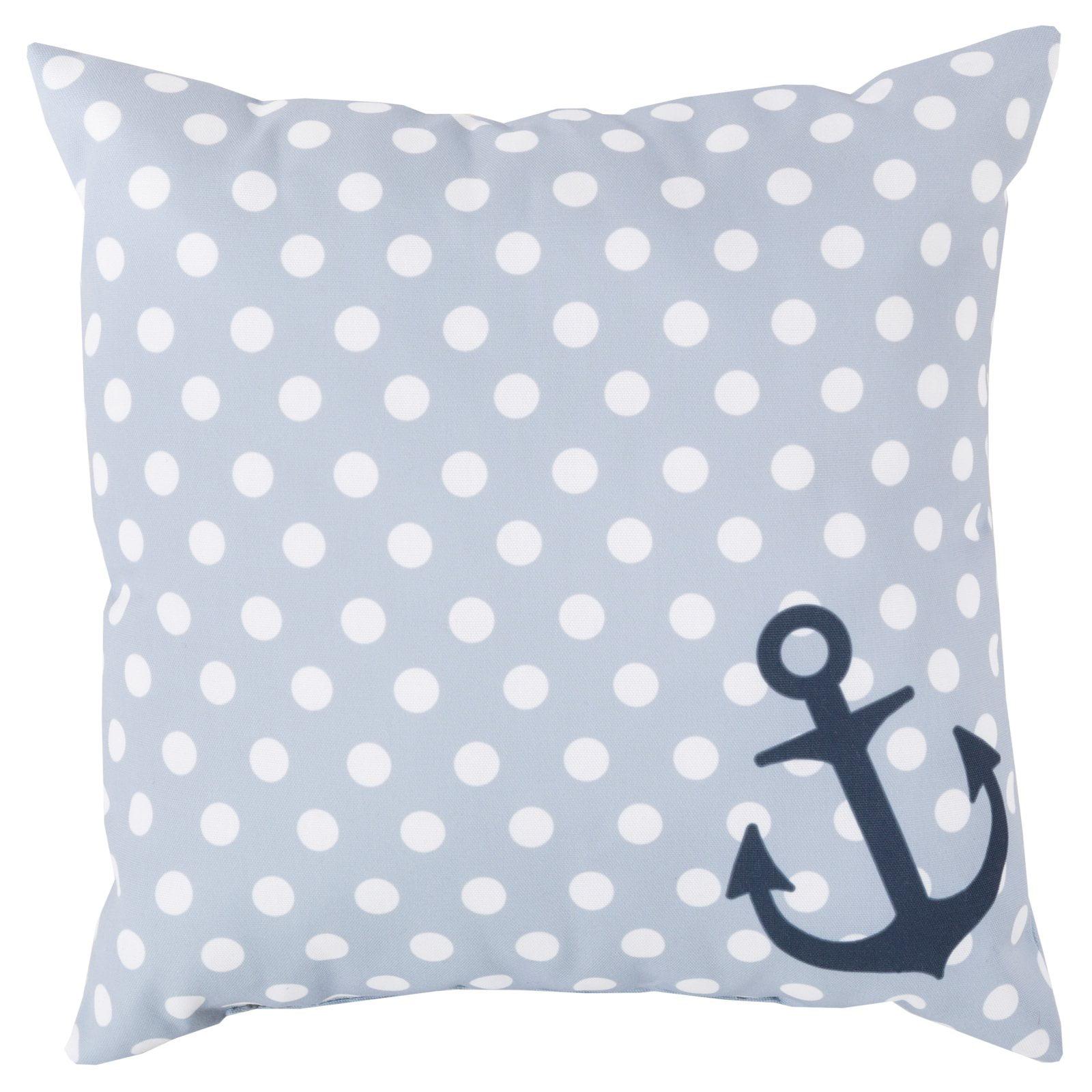 Surya Anchored in Polka Dots Indoor/Outdoor Pillow