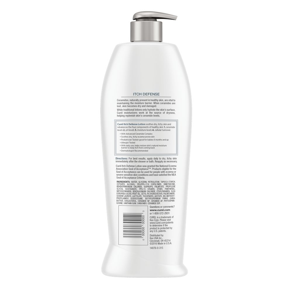 Curel Itch Defense Calming Body Lotion for Dry, Itchy Skin
