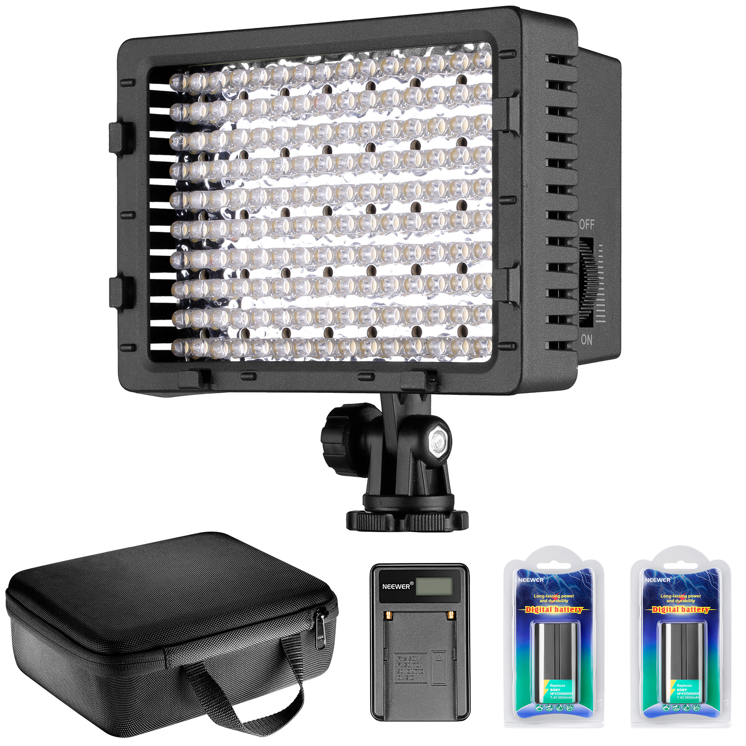 Neewer CN-160 LED Dimmable Ultra High Power Panel Video L...