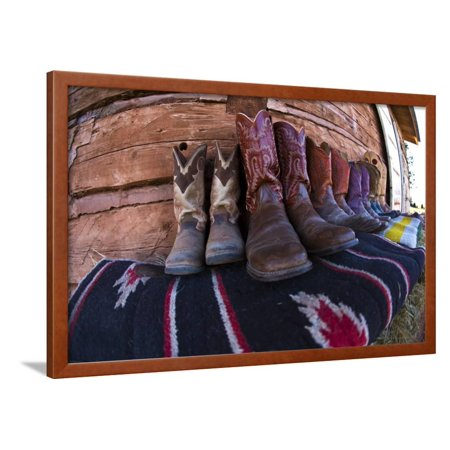 Boots and Blankets Framed Print Wall Art By Terry Eggers