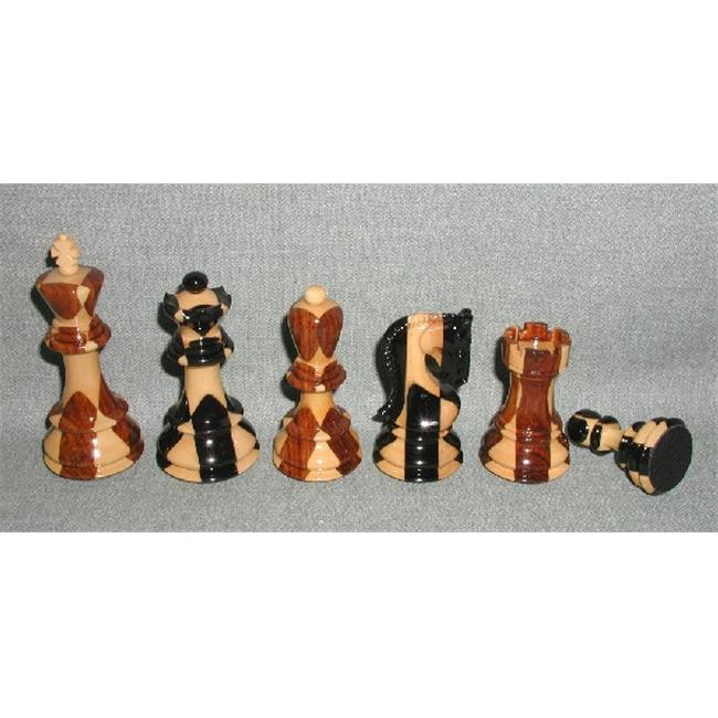 Checkmate 37SI Inlaid Sheesham and Ebony Laquered with Leather Pads - Double Weighted