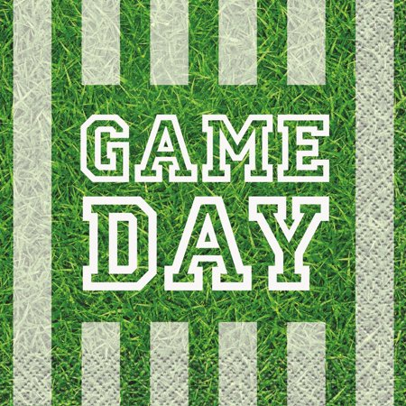 Game Day Football Paper Beverage Napkins, 5 in, 16ct](Football Party)