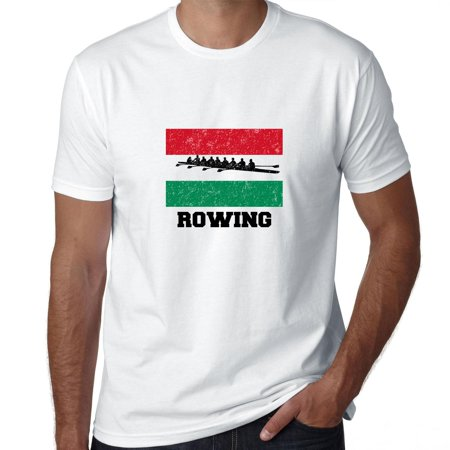 Hungary Olympic - Rowing - Flag - Silhouette Men's T-Shirt