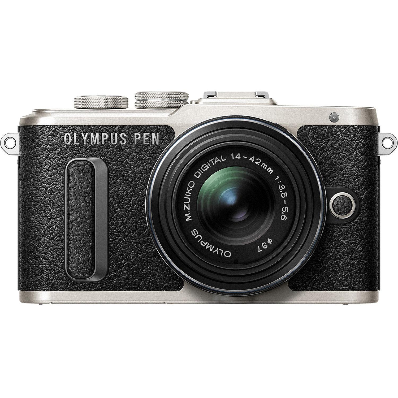 Olympus PEN E-PL8 Wi-Fi Micro 4 3 Digital Camera & 14-42mm II R Lens (Black) by Olympus