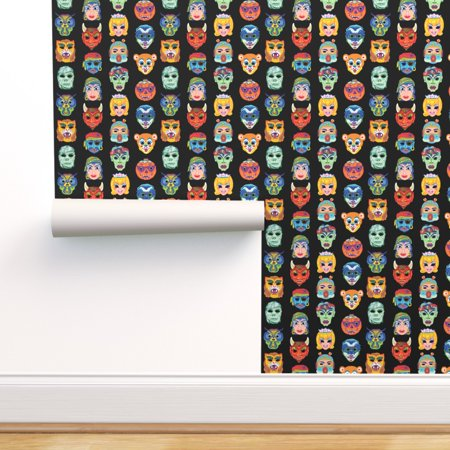 Vintage Halloween Witch Wallpaper (Peel-and-Stick Removable Wallpaper Vintage Halloween Masks Masquerade)