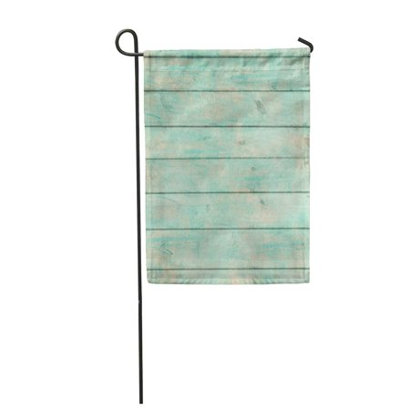 JSDART Shabby Chic Wood Rustic Old Plank in Turquoise Mint and Beige Colors Scratches Garden Flag Decorative Flag House Banner 12x18 inch - image 1 of 1